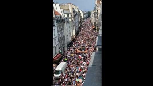 Paris France Protest Against Macrons Covid Legislation (2021.07.17)